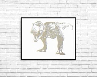 Dinosaur Prints T Rex Tyrannosaurus Rex Stegosaurus Triceratops Brontosaurus Apatosaurus  Jurassic Triassic Cretaceous Wall Art