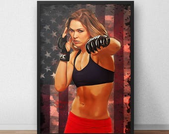 Ronda Rousey UFC Poster
