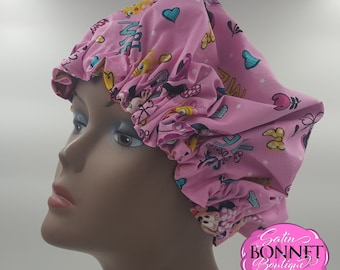 Minnie Mouse Satin Bonnet for Infants and Kids-Adjustable