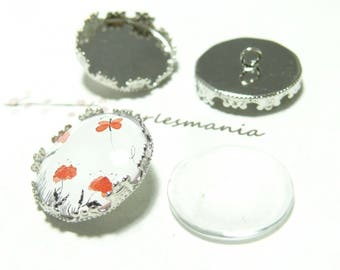 20 pieces: 10 buttons sewing 25mm Crown PP and 10 cab