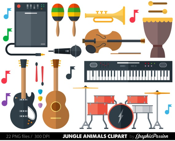 musical instrument clipart clip art music clipart music clip rh etsy com musical instruments clip art black and white musical instruments clip art images