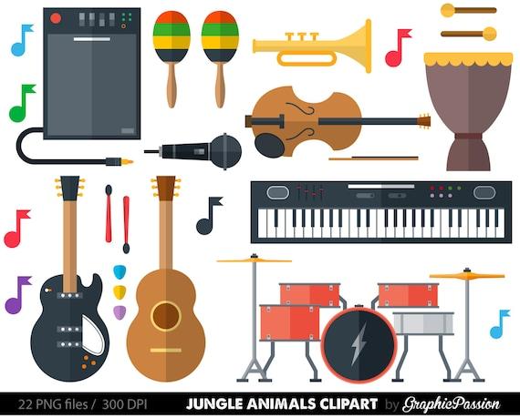 musical instrument clipart clip art music clipart music clip rh etsy com music instruments clip art musical instruments clipart