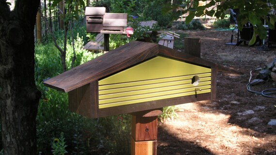 In Stock Large Expresso Mid Century Modern Ranch Bird Houses