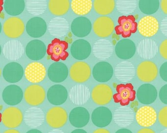 Moxi Floral Dot Peppy Aqua > by Studio M for Moda Fabrics < Half Yard off the Bolt