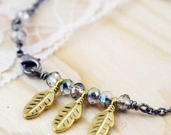 Gothic feathers bracelet