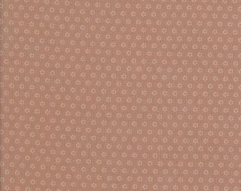 Brown Fabric - White Posies - Fig Tree Fabric - Fig Tree - White Dot Fabric - Hazel Plum - Moda Fabric