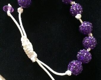 Jewel bead  and cord bracelet