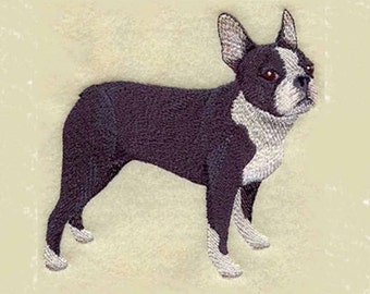 Boston Terrier Tea Towel | Dog Lover Gift | Embroidered Kitchen Towel | Personalized Kitchen | Embroidered Towel | Dish Towel | Hand Towel