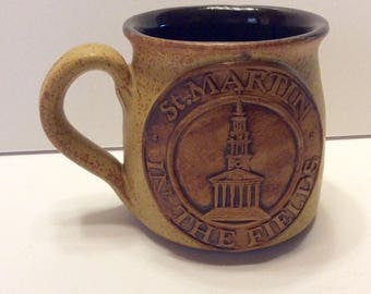 St Martin in the Fields stoneware coffee cup mug. Free ship