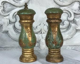Florentine Salt Shaker and Pepper Grinder / Italian Salt and Pepper Shakers / Florentia