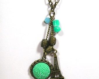 Tiny Eiffel Tower Necklace / Pendant