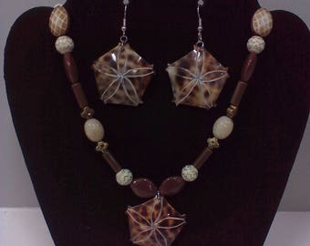 Brown Shell Necklace Enchanted Summer