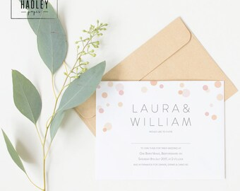 Printable wedding invitation set - Parker collection