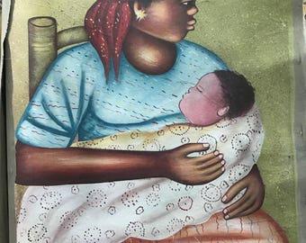 "Original Oil on Canvas - ""Bebe"""