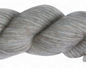 Amano Puyu Yarn - Baby Alpaca\Mulberry Silk Blend - Bulky - Silver/ Beautiful Alpaca Silk Yarn Blend