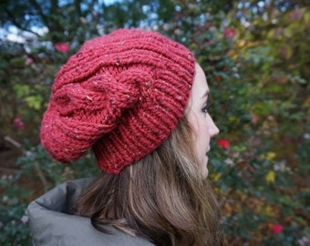 Speckled Red Beanie