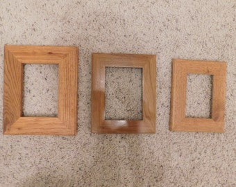 "4x6"" and 5x7"" Oak frames, finished (#5339)"