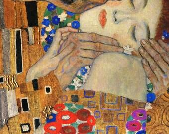 Fabric Panels; Gustav Klimt, The Kiss;Symbolist Art. Craft/ Quilting/ 100% Cotton/ Applique