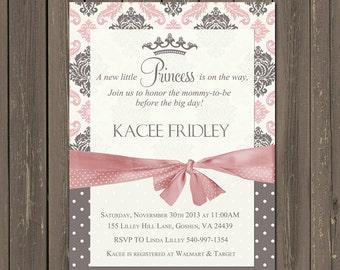 Superb Princess Baby Shower Invitation, Little Princess Baby Shower Invite, Baby  Girl Shower, Pink