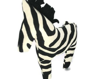 Extra Durable Dog Toy Zebra 'DOUBLE FABRIC LAYER Construction'