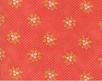 Ella & Ollie Poisies Strawberry by Fig Tree of Moda Fabrics, 20307 11, Sold By 1/2 Yard