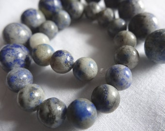 """8 1/2"""" Strand Natural Lapis Stone Beads 7mm and 10mm Round A285"""
