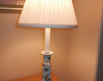 White Porcelain Desk Lamp ONLY, NO Shade