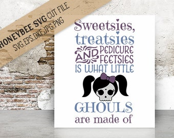 What Little Ghouls Are Made Of svg Halloween decor svg Halloween svg Fall decor svg Fall svg Autumn svg Spooky svg Silhouette svg Cricut svg