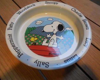 Vintage SNOOPY Charlie Brown 1965 Englnd Bowl