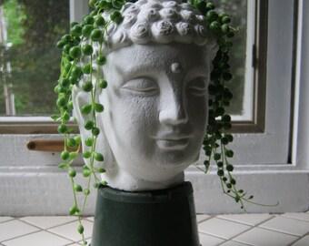 Buddha Plant Pot, Buddha Head Succulent Planter, Concrete Cement Home And  Garden Decor, Air Plant, Plant Pot, Flower Pot, Concrete Planter