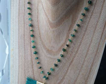 green chalcedony faceted pearl 4mm bracelet