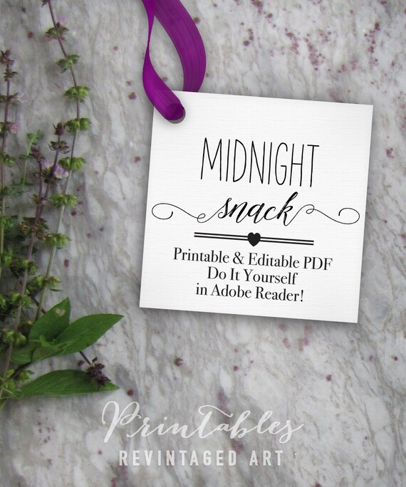 Midnight snack tags printable editable favor tag template midnight snack tags printable editable favor tag template printable treat or cookie tag template diy digital pdf 2 inch square 2x2 from solutioingenieria Images