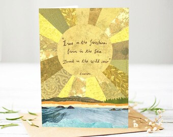 Wild Air - Quote by Emerson - [Greetings Card]