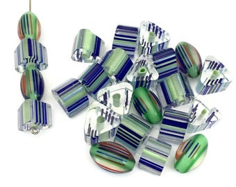 24 furnace glass beads, 9mm to 15mm # PV 051