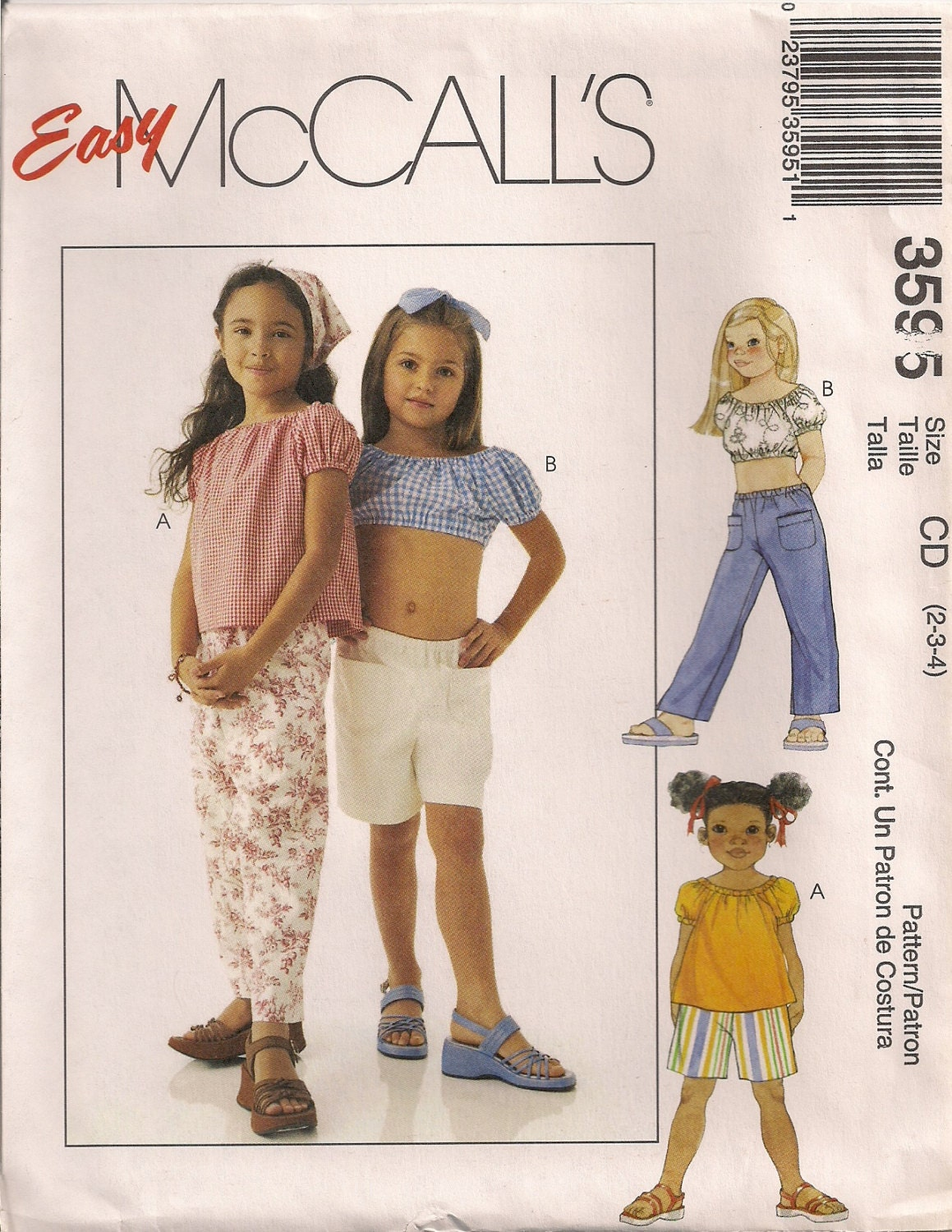 McCall's Sewing Pattern 3595