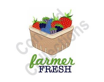 Farmer Fresh Berries - Machine Embroidery Design, Farmer Fresh, Berries
