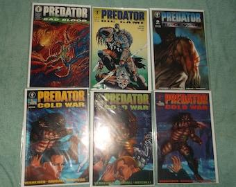 sci-fi comics-predator-lot of 6-1990-GD