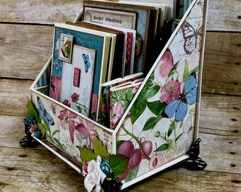 Fun with Graphic 45 Project #4: Botanical Tea Stationary Organizer & Cards