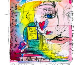 Painted Prayer No. 13 ...  art archival Spiritual print from original painting by Kathy Morton Stanion EBSQ