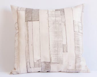 Wood look pillow cover, timber cushion cover, throw pillow cover, wooden pillow, home decor, housewarming gift