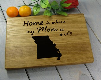 Mothers Day Gift Best Mom Birthday Gift From Daughter 50th Birthday Gift For Mom  From Daughter Custom Wood Cutting Board