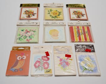 vintage tally cards / tallies - set of 10 packages / NIP / NOS