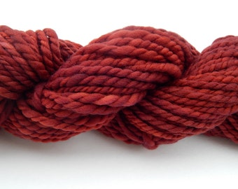 Lac-Plant Dyed Handspun Yarn
