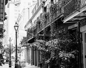 Black and White Print, New Orleans Art, French Quarter Photo, Affordable Wall Art, Louisiana, New Orleans Gift, Fine Art Photography, Travel