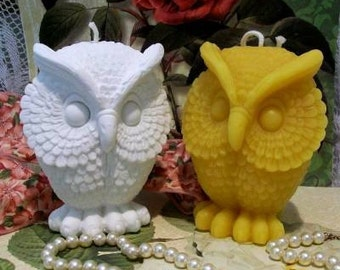 Beeswax Owl Candle Choice Of Color