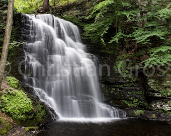 Waterfall, Waterfalls, Bridal Veil Falls, nature, scenic, gift, outdoors, mountain, water, falls, Pennsylvania