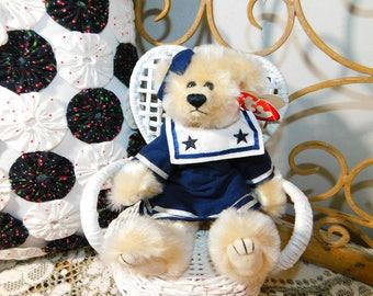 TY Bear Breezy Bear, Vintage Stuffed Ty Bear, Sailor ty Bear, Vintage Stuffed Bear, Vintage Teddy Bear, Vintage Stuffed Toys