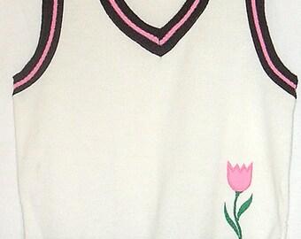 St Michael Orlon Knit Vest
