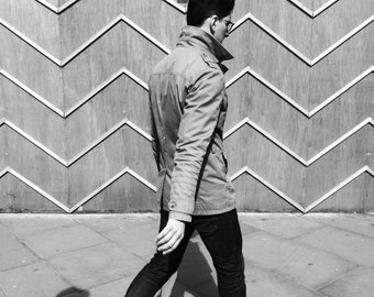 Street Photography, Urban Photography, Zig Zag, Man, Print, Photography, London Print, Geometry, Black White, Notting Hill, London, England