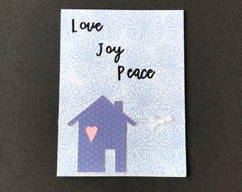 Handmade New Home Card, Die Cut Cards, Handmade Cards